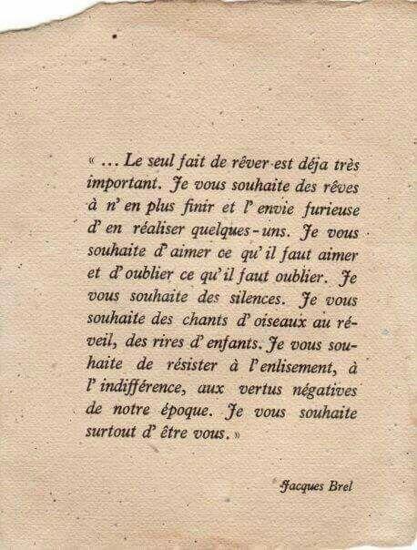 MONSIEUR BREL.....