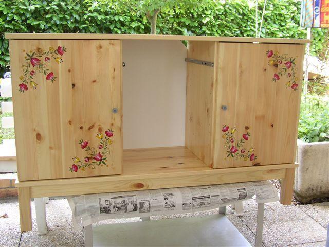 Peinture sur bois - Petit meuble a peindre ...