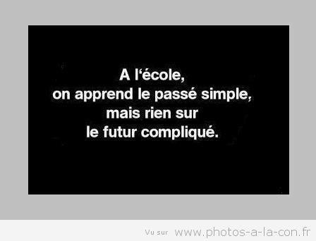 A L'ECOLE......