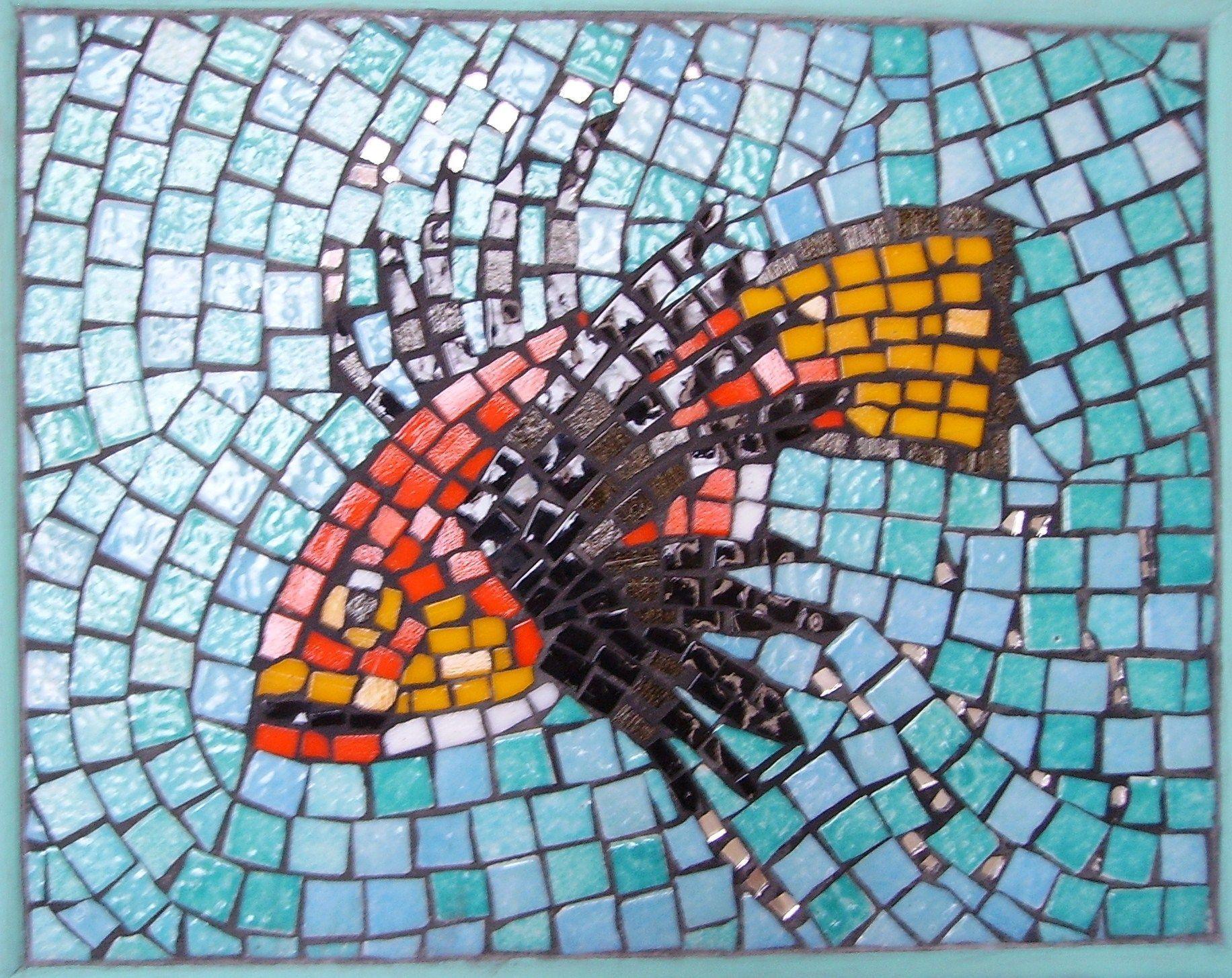 Poisson en mosaique centerblog for Carreaux de briare